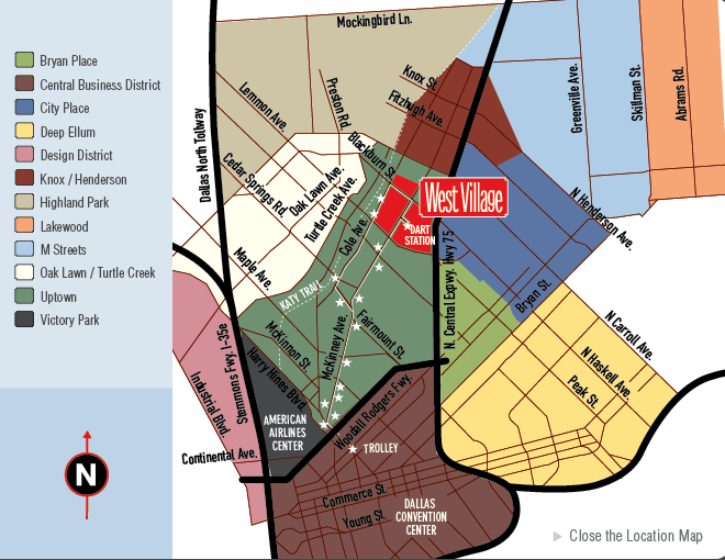 Dallas West Village Map
