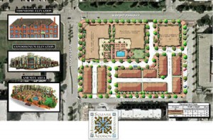 Meridian Square Townhomes Condos in Addison Circle